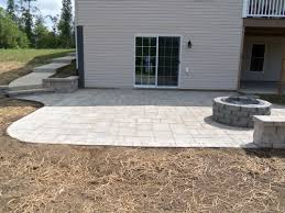 Patio Brick Pavers Landscaping Virginia Brick Paver Patio Backyard Stafford Nursery
