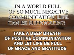 Gratitude Meme - in a world full of so much negative communication life can be