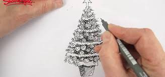 draw color beautiful christmas tree christmas ideas