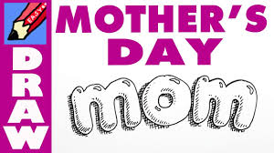 how to draw mom in bubble writing for mother u0027s day youtube