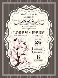 cherry blossom wedding invitations vintage cherry blossom wedding invitation card border and frame