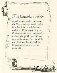 christmas pickle pickle ornaments traditions