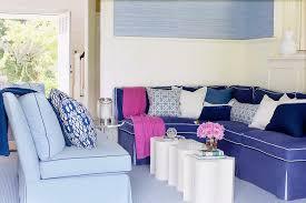 Blue Velvet Sectional Sofa by Blue Sectional Contemporary Living Room Amanda Nisbet Design