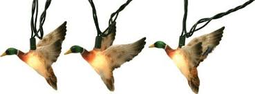 tree lights flying duck decoration lights mallard duck
