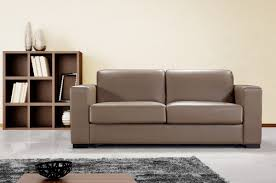 modern leather sofa bed brown u2014 the kienandsweet furnitures