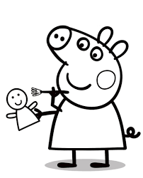 dolls coloring pages 2449 peppa pig coloring pages coloring tone