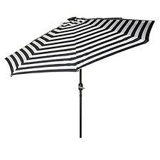 Blue And White Patio Umbrella Striped Patio Umbrellas