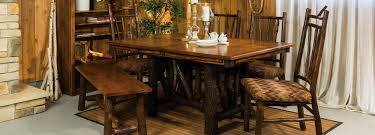 Hickory Dining Room Table by Hilltop Hickory Furniture Niwa Member