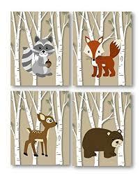 Woodland Decor Nursery Woodland Nursery Woodland Prints Forest Animals