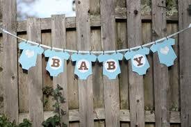 baby shower banner onesie baby shower banner blue the paper