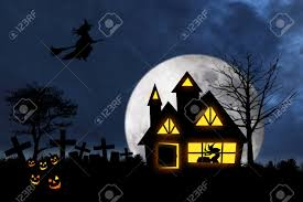 scary halloween photos free scary halloween night with witch flying over a witch house and