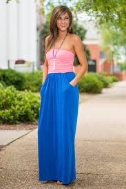 life at the top maxi dress royal blue pink the mint julep boutique