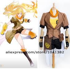 aliexpress yang rwby yellow trailer yang xiao long uniform jacket top shorts anime