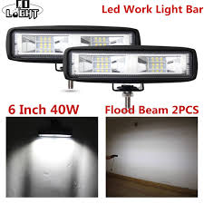 6 inch light bar big promo co light led work light 40w 6 inch flood beams bar auto