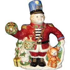fitz and floyd vintage large fitz and floyd teapot christmas nutcracker from