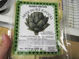 artichoke ravioli with a white wine sauce left coast contessa