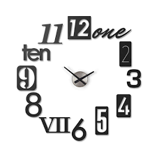 Unique Clock by A Set Of 12 Metal Stamp Numbers Come Together To Create A Unique