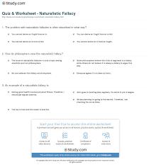 quiz u0026 worksheet naturalistic fallacy study com