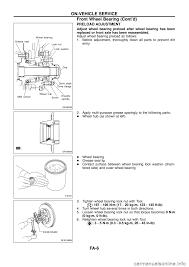 nissan maxima axle nut torque nissan patrol 1998 y61 5 g front suspension workshop manual