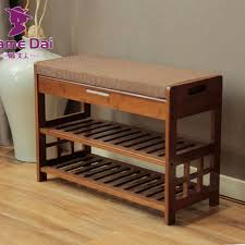 bamboo shoe rack bench storage organizer bamboo furniture door