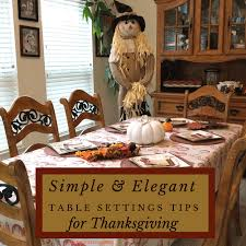 simple and table setting tips for thanksgiving