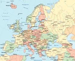european countries on a map europe map other maps