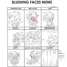 Blushing Meme - stratis the hedgehog blushing meme deviantart drawing memes know
