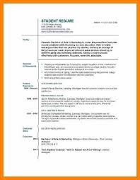 First Resume Templates First Time Resume Examples Teen Resume Sample Resume Templates