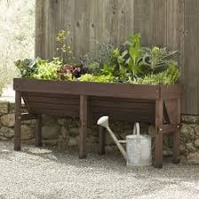 Garden Bench With Planters Raised Garden Beds U0026 Planter Boxes Williams Sonoma