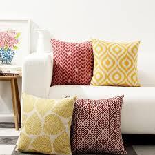 coussin pour canapé plein de feuilles coussins pour les coussins du canapé de style