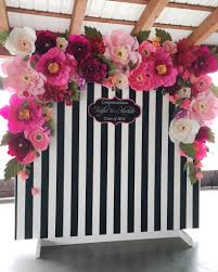 wedding backdrop flowers how is this black and white stripped and flowery backdrop