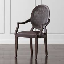 Kitchen Chairs With Arms by Winnetka Dark Mahogany Dining Arm Chair Crate And Barrel