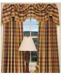 Country Curtains Deals On Country Curtains Moire Plaid Lined Austrian Valance