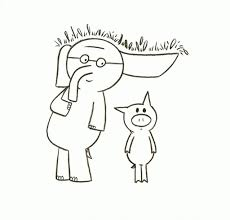 simple design elephant and piggie coloring pages mo willems home