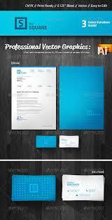 Business Letterhead Design Vector Square Business Card Letterhead Design By Lung Graphicriver