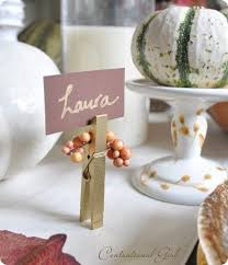 diy nameplates for your thanksgiving dinner seating arrangements