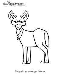 reindeer coloring page a free holiday coloring printable