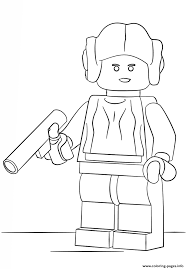 lego princess leia coloring pages printable