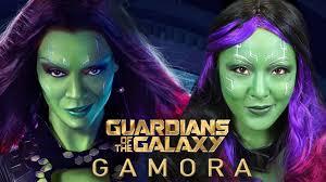 Gamora Costume Gamora Makeup U0026 Costume Guardians Of The Galaxy Halloween 2014