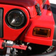 jeep light covers rugged ridge 11353 02 headlight turn signal cover set smoke