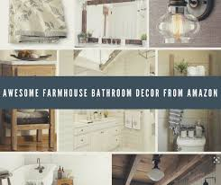Rustic Farmhouse Bathroom - awesome farmhouse bathroom decor from amazon bathroom overhaul