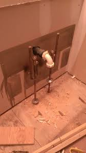 bathroom how can i move sink supply lines from the floor to the