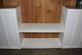 kitchen shelves and cabinets creating shelves between cabinets the cavender diary