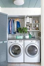 Laundry Room Storage Between Washer And Dryer by Small Space Organizing Tips Southern Living