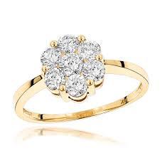 cluster rings 14k 7 diamond cluster ring 1 10ct