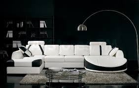Modern White Sectional Sofa by Ultra Modern White Sectional Sofa With Black Trim Vig Furniture