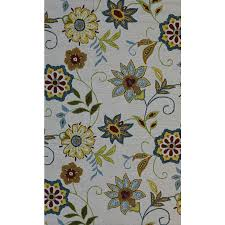 Floral Outdoor Rug Blue And Yellow Floral Indoor Outdoor Rug American Home