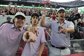 Tennessee travel fan images Alabama fans light up bryant denny with victory cigars after JPG