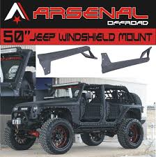 jeep jk light bar brackets arsenal 50 inch led light bar upper windshield mounting brackets for