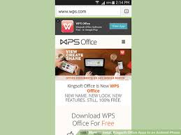 android office how to install kingsoft office apps to an android phone 13 steps